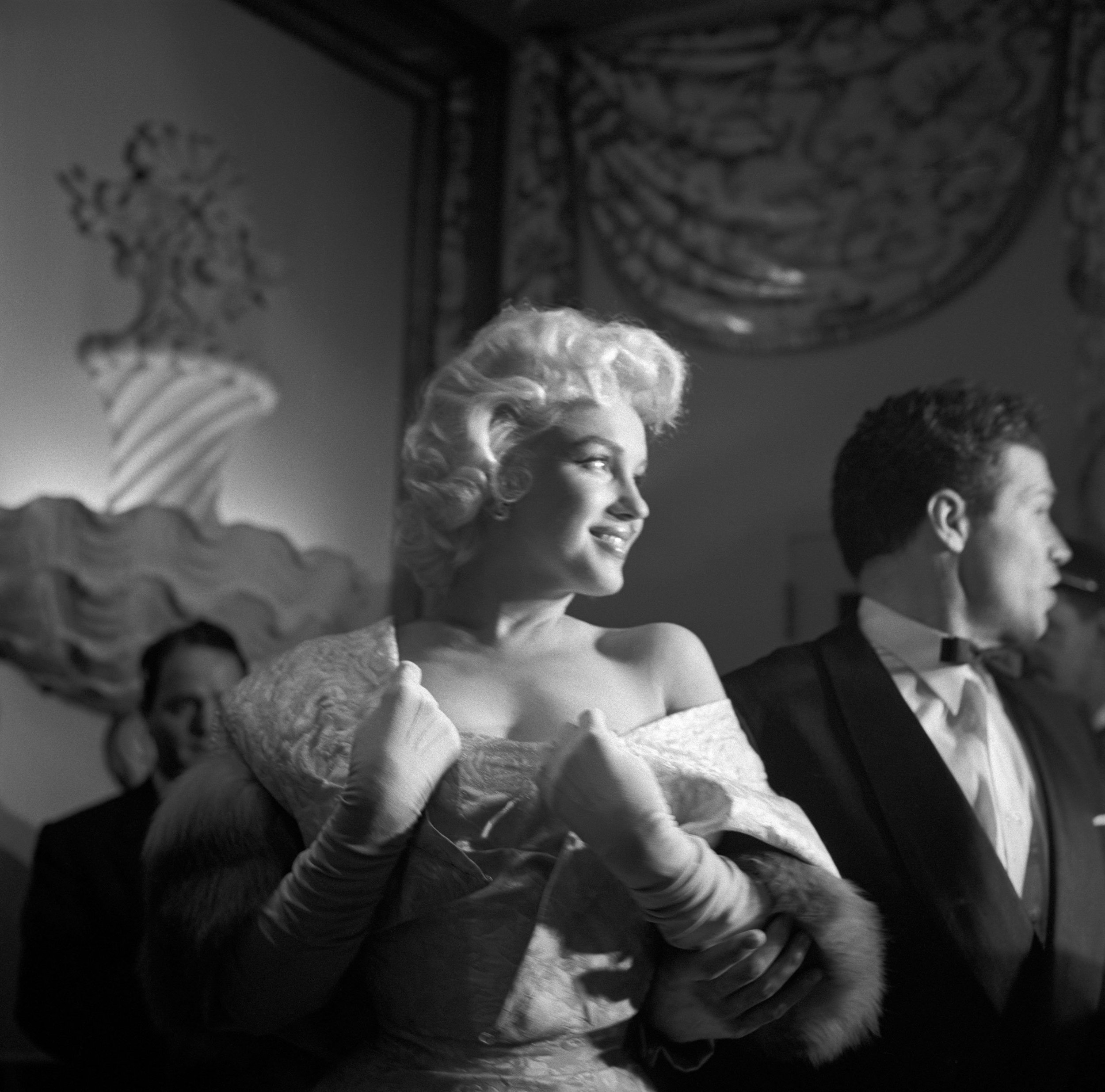USA. New York. New York City. US Actress Marilyn MONROE at the premiere of 'East of Eden'. 1950.