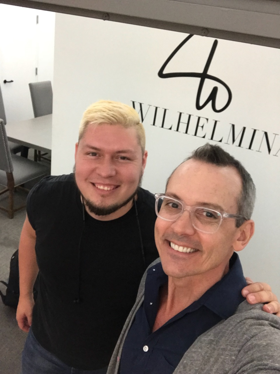 Here with my agent Jay at Wilhelmina.