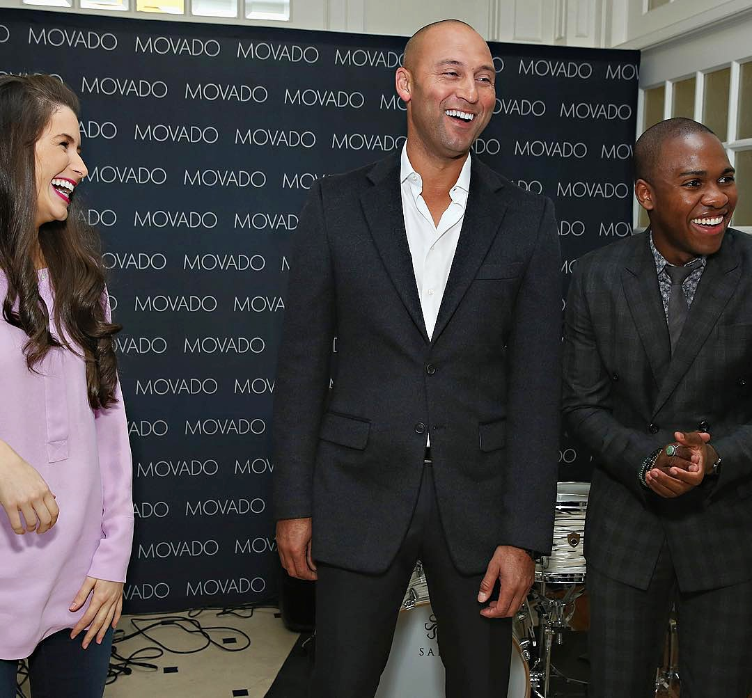 Bryan Carter & Derek Jeter at a Movado Event