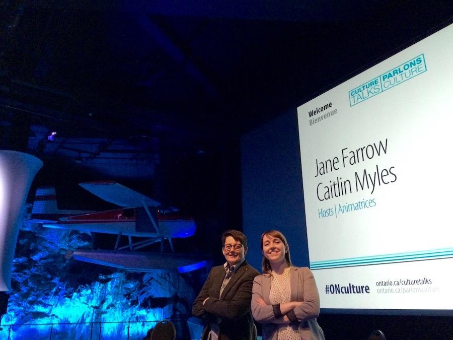 Jane Farrow and Caitlin Myles host the Sudbury Culture Talk