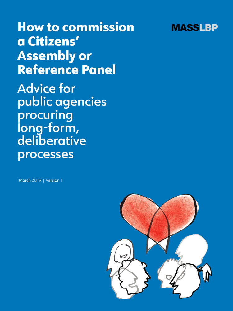 To learn more about commissioning Citizens' Assemblies and Reference Panels,  download our guide.