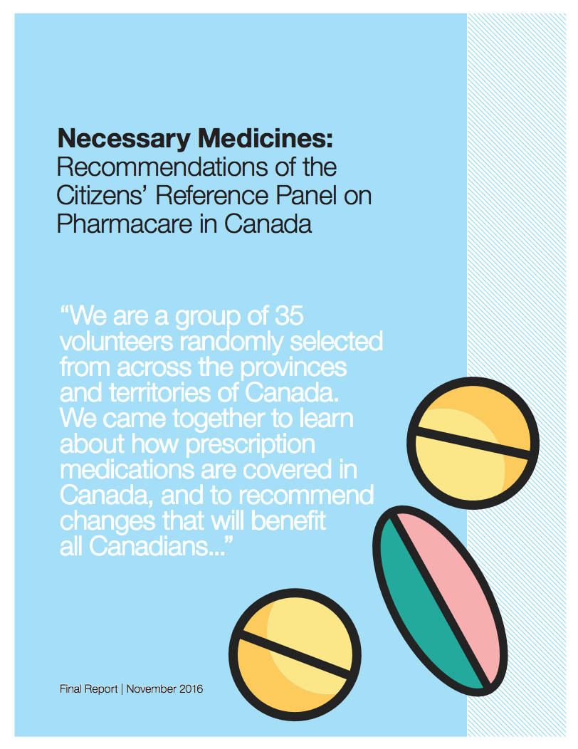 The Citizens' Reference Panel on Pharmacare in Canada (2016)