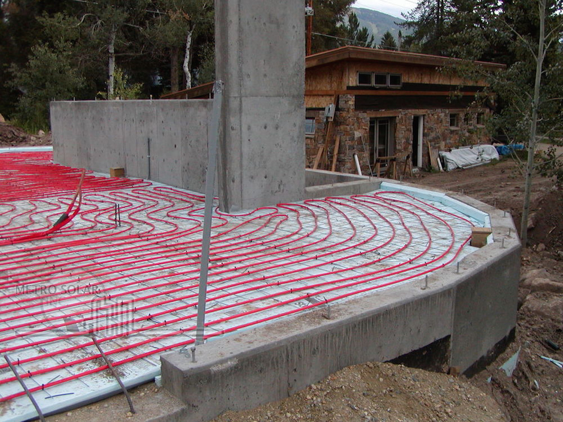 Solar Radiant Thermal Heating