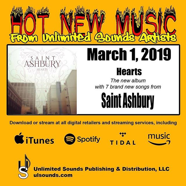 Late as usual! But ready or not, here it comes. #saintashbury #saintashburyhearts #newmusic #mountaindream #mynewson #highroad #addiction #cooldesire #stolengoodbye #amuse #womeninrock #greatfemalesingers #thegrooveroom #spotify #itunes #tidal #amazonmusic @jaimegrl32 @runninpeacock @cozakas @salamilouie @ashleyjohnmitchell