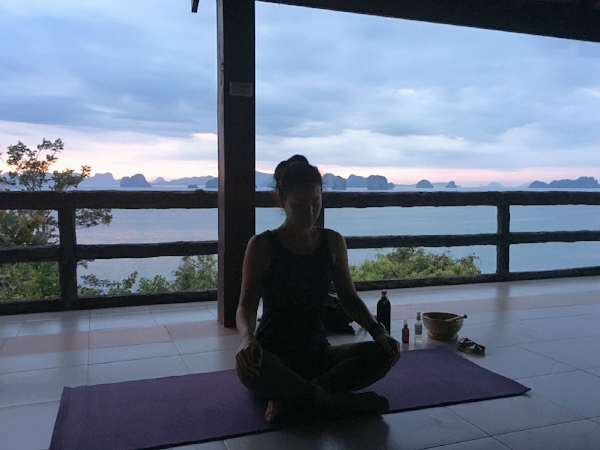 Sunrise Yoga Class at Koh Yao Noi, November 2016.