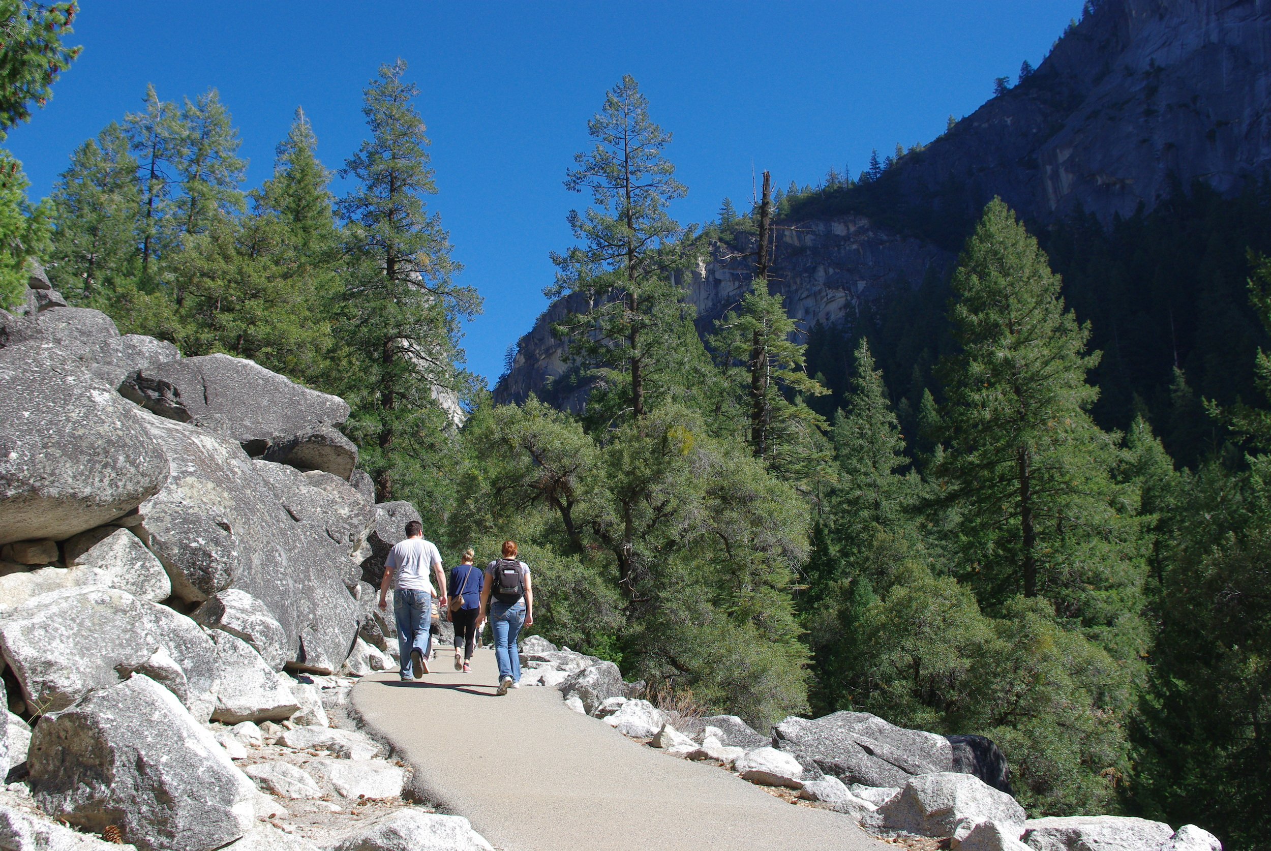 Yosemite National Park Hikers Hiking Jen's Bucket List