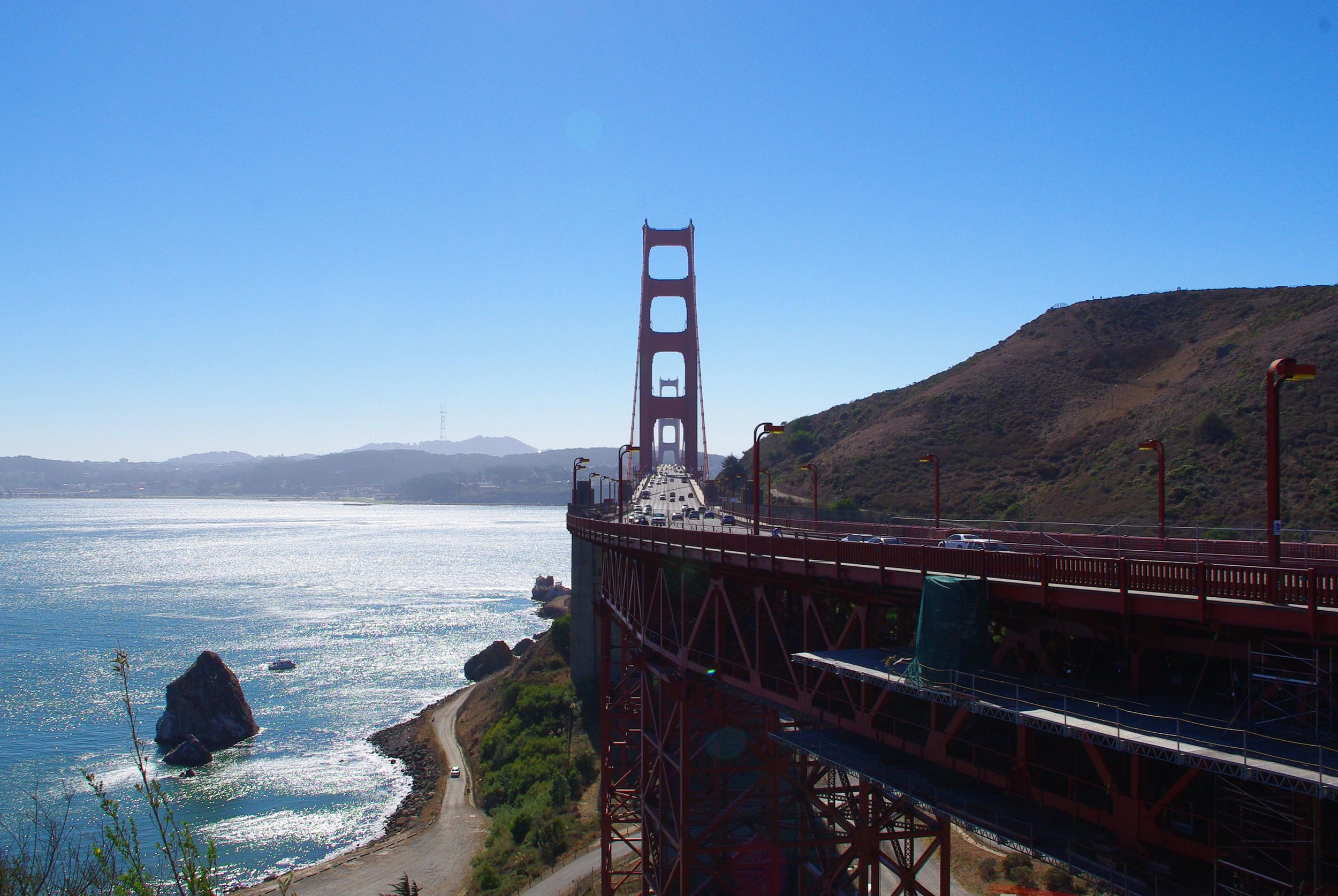 1.Walk across the Golden Gate Bridge
