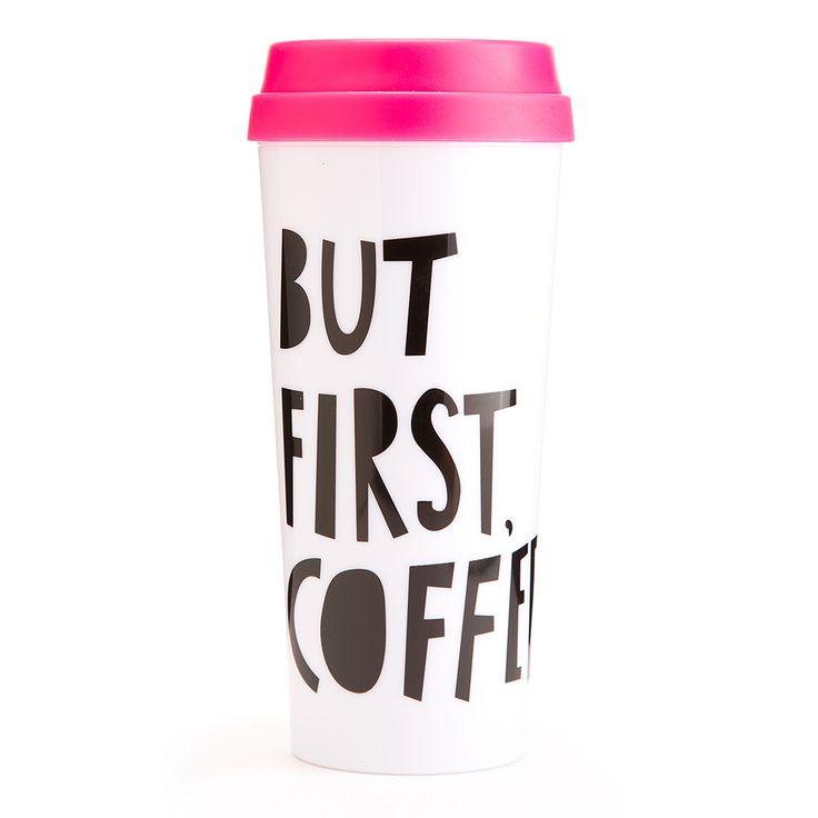 10.Hot Stuff Thermal Mug – But First, Coffee, ban.do