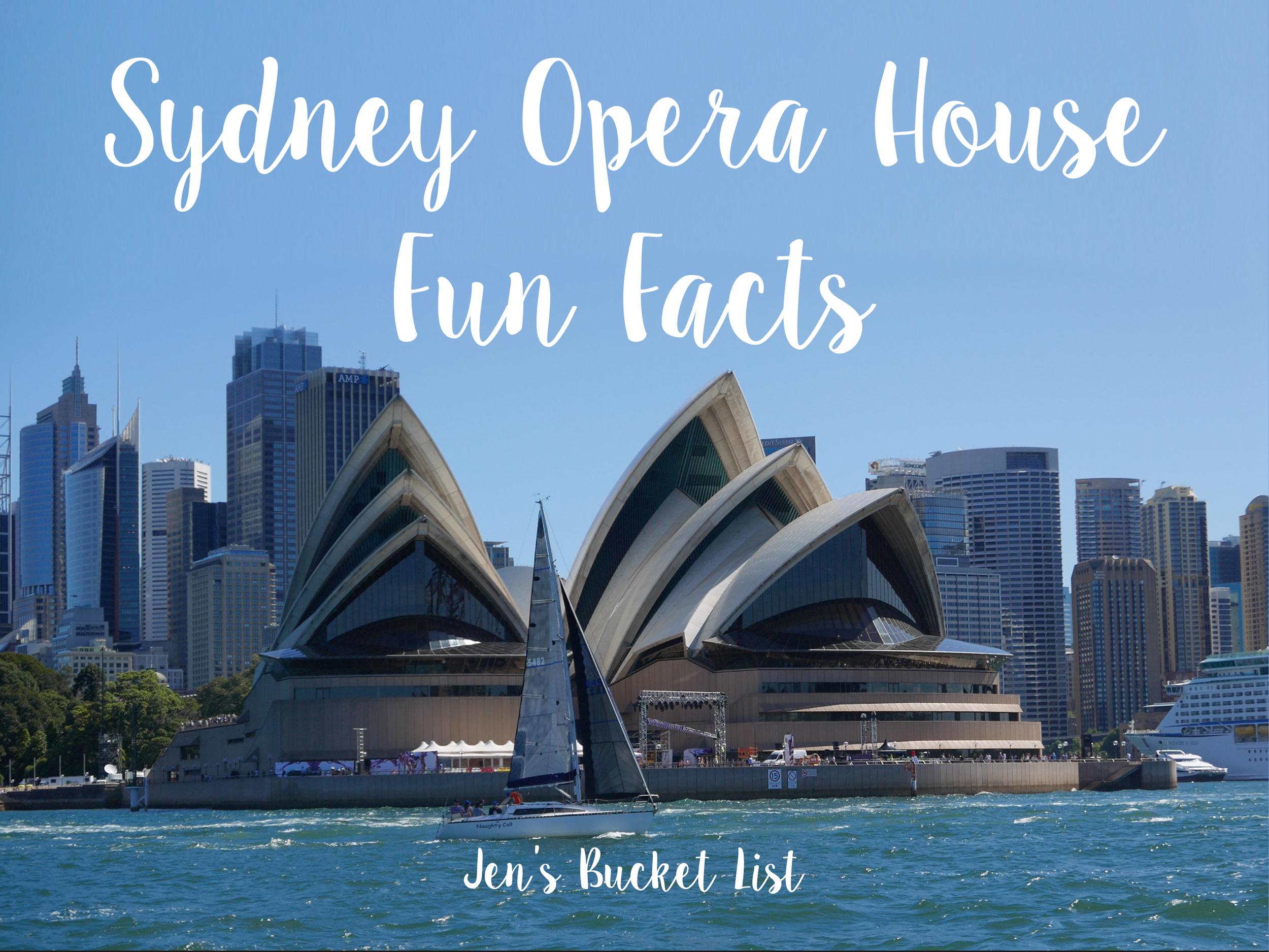 Fun Facts Sydney Opera House