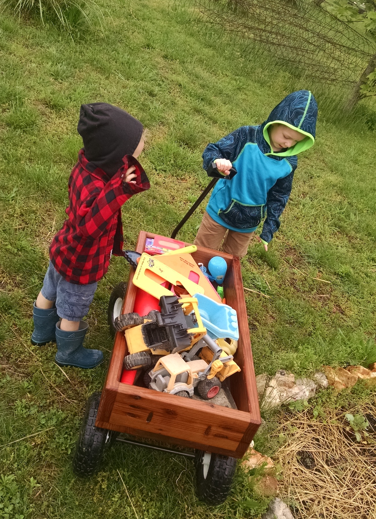 They put the wagon to immediate use! But it's not about the wagon, is it? People . . . that's what it is all about!