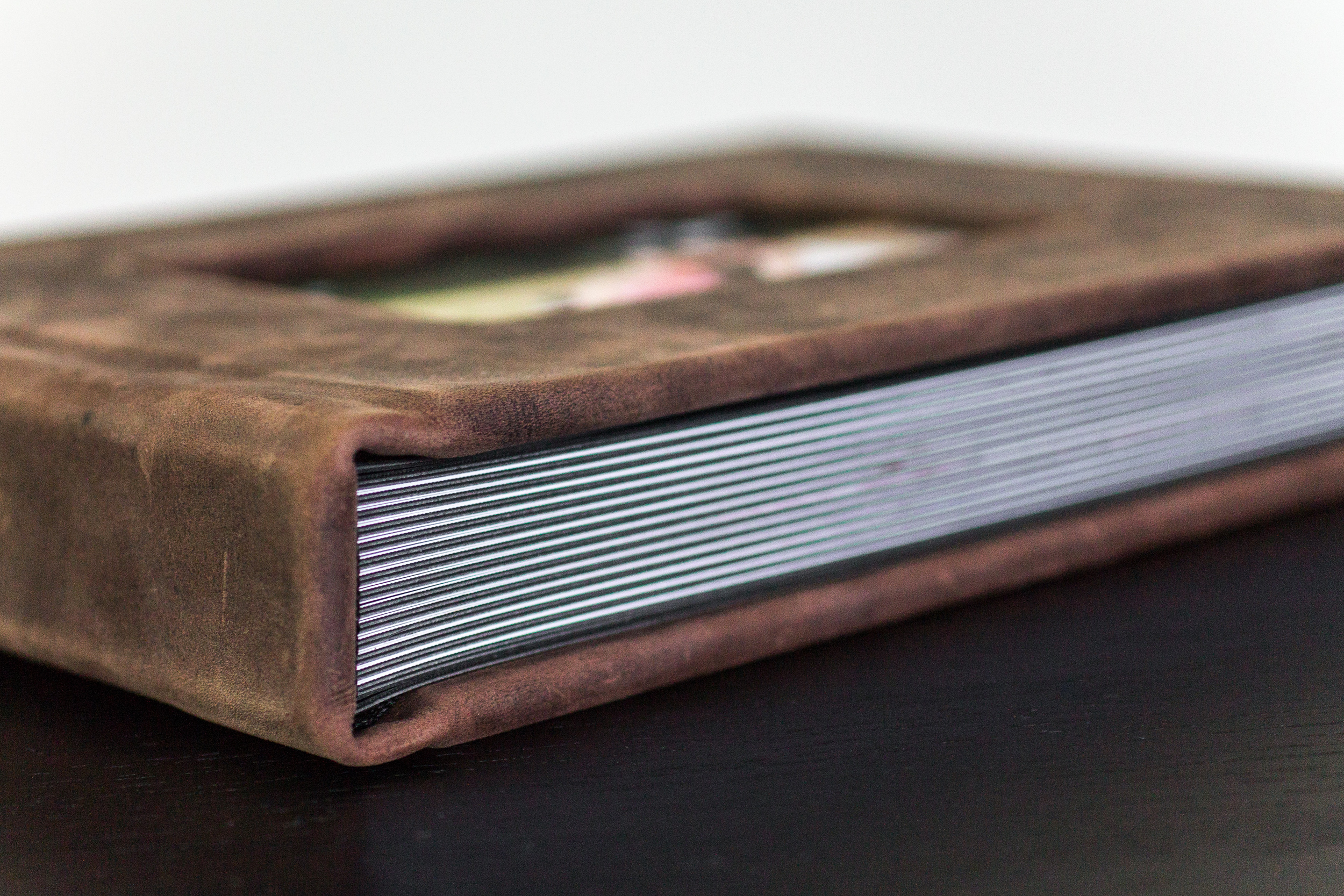 8x11 Rustic Brown Leather Album