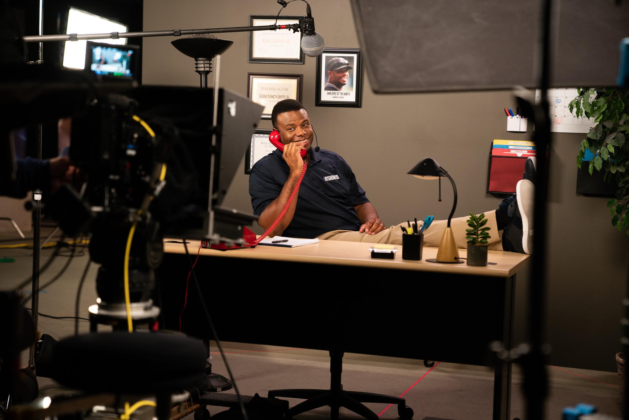 Ken Griffey Jr. at Sony's San Diego Studio