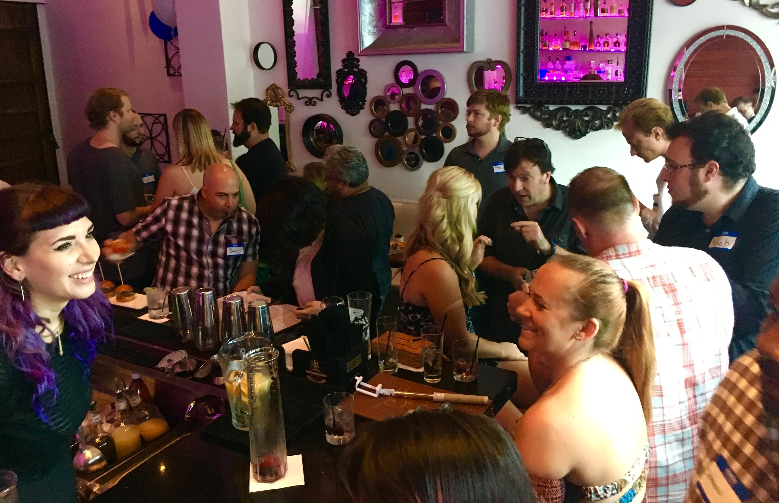 The second BCPC West meetup at The Powder Room in Hollywood (July 16, 2016)