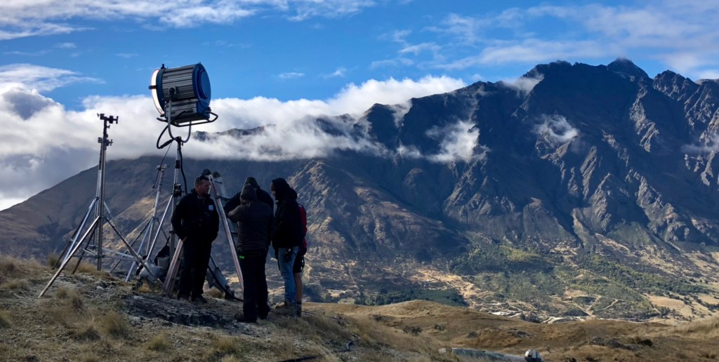"""Triangle""  filming in Queenstown"