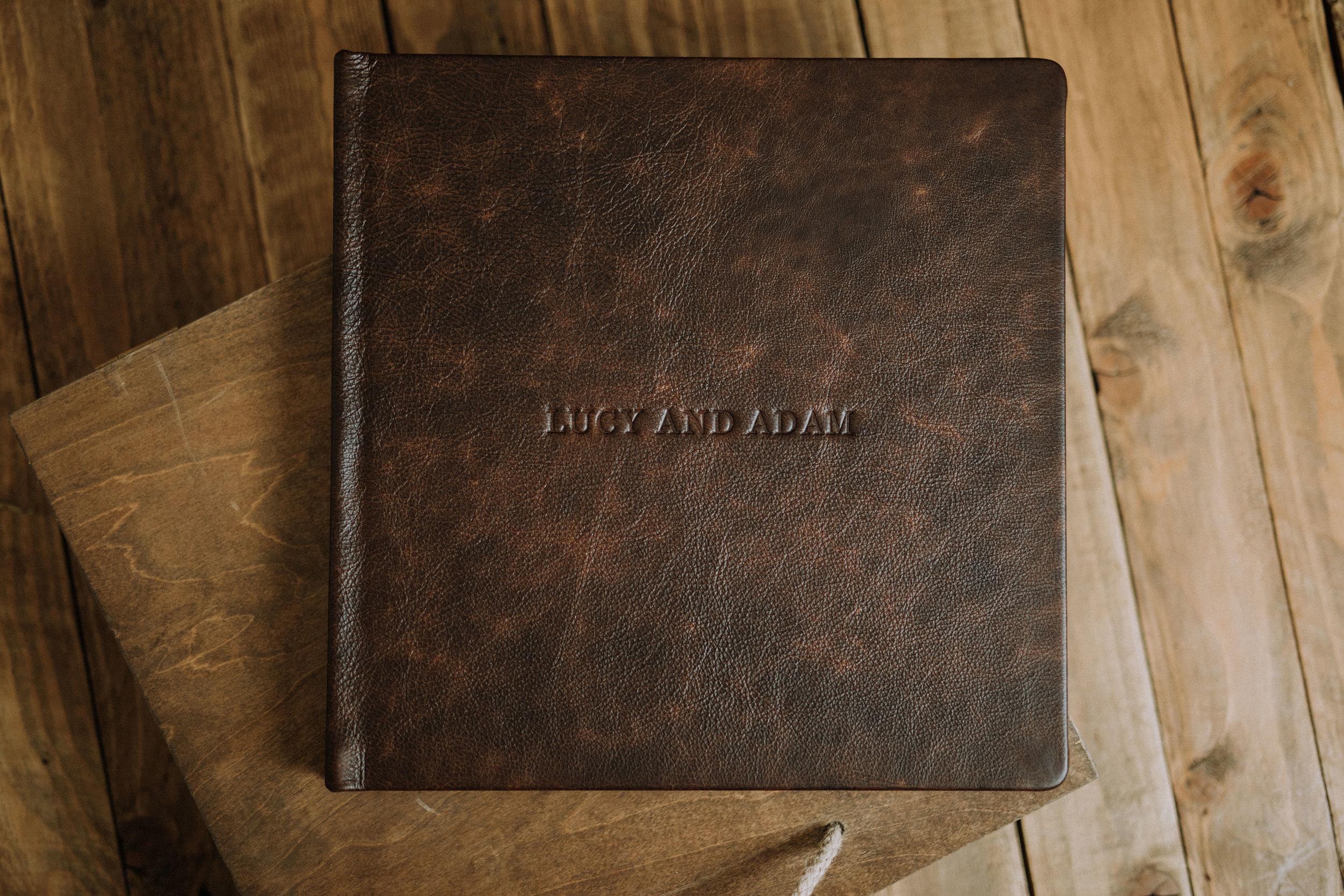 italian leather wedding album