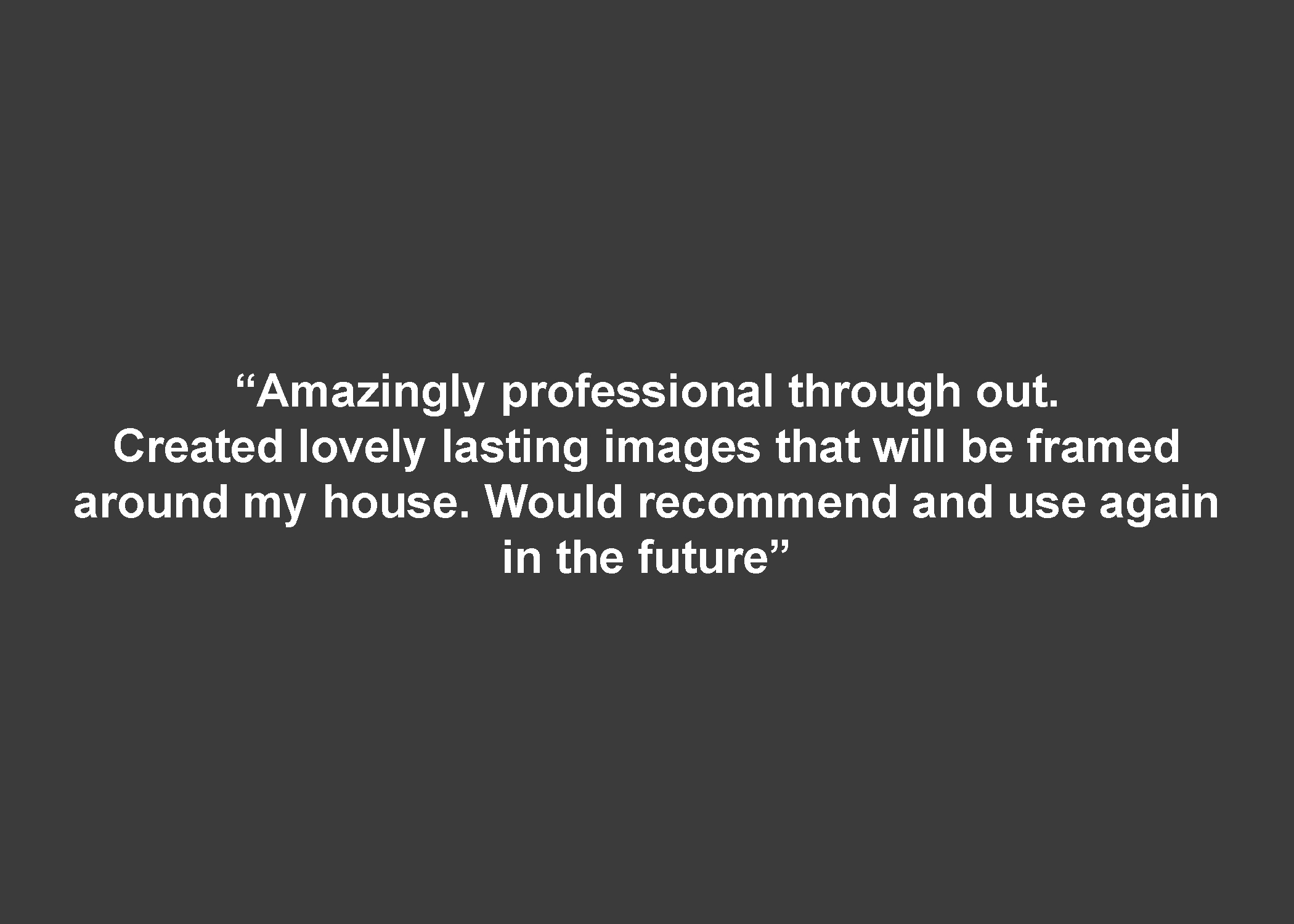 Copy of professional photographer review
