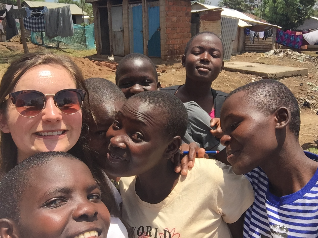 Some of the lovely girls Toria met in Ndhiwa
