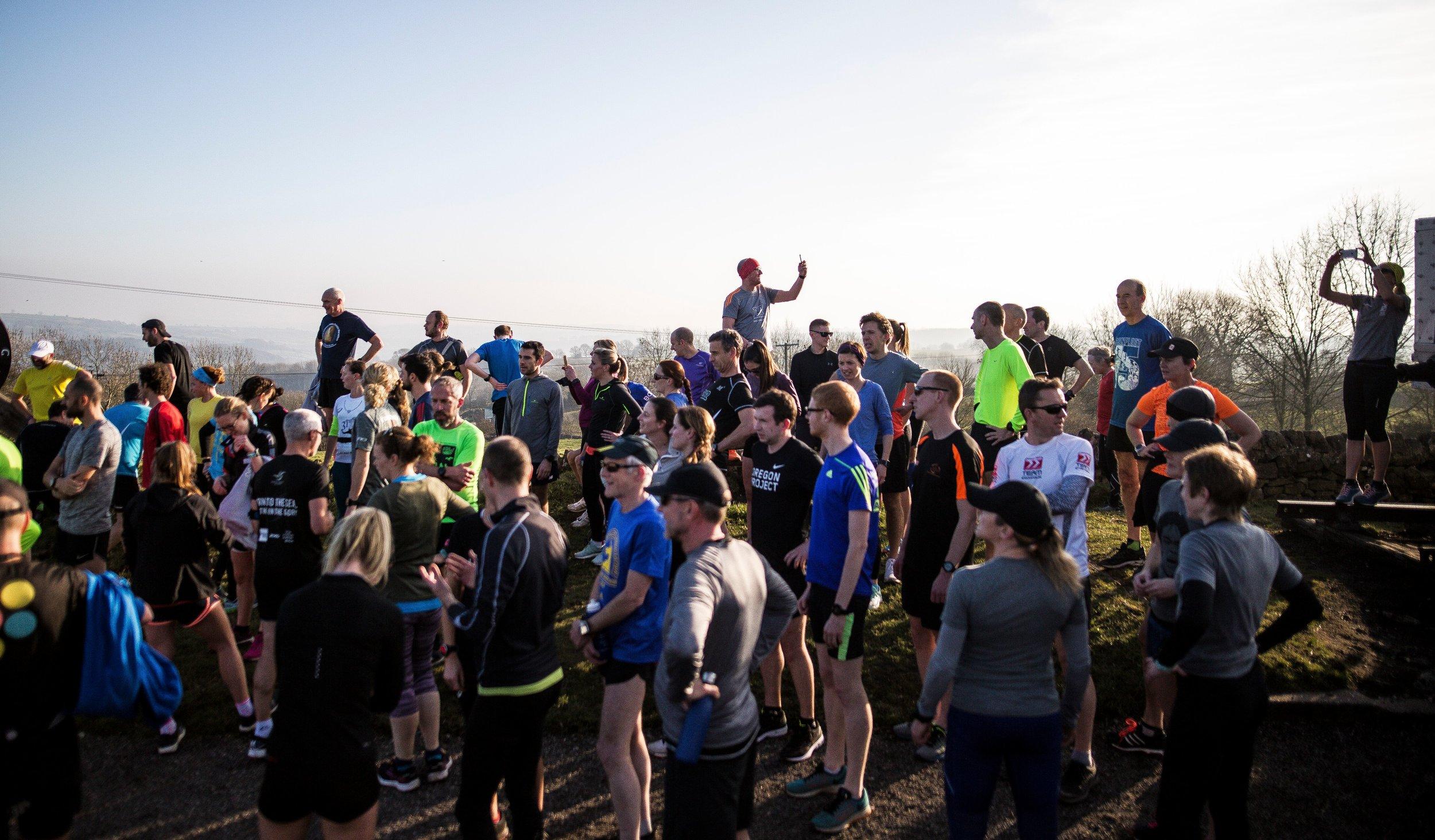 Group coached run on High Peak Trail