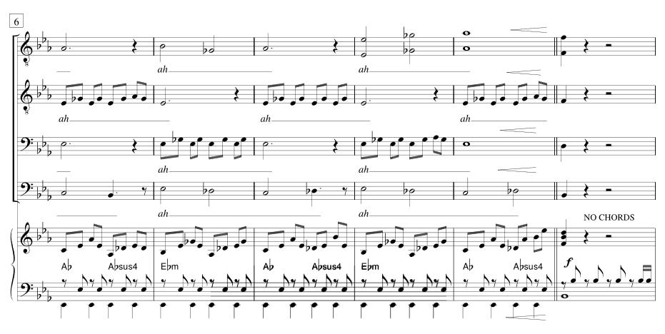 Voorbeeld van bladmuziek / Example of sheet music