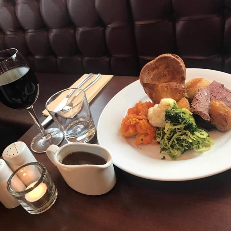 Sunday 2 course meal - (25 people minimum) choose either a starter or dessert of the day with a Roast dinner as the main course.. £15.95ppStarters includes:Soup of the day.Garlic bread.PateHummusPrawn and avocado bruschetta.Roast dinner includes:A choice of meat- gammon, beef or chicken.Roast potatoes.Seasonal vegetables.Yorkshire pudding.GravyEvening set menu- 2 course for £20pp (10-40 people).PLEASE NOTE there is a 10% service charge. (this will be added onto the final bill)