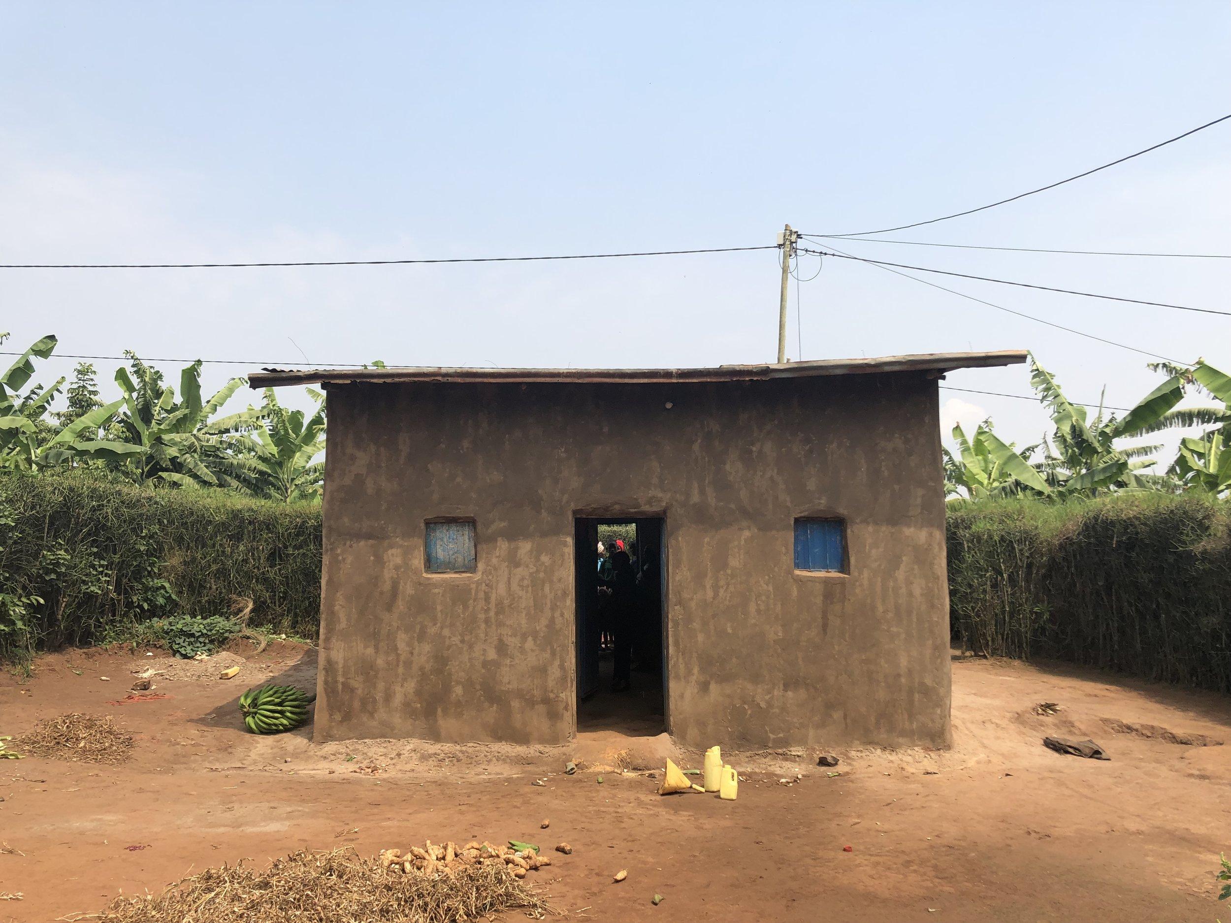A customer's house in Kamonyi District, Rwanda.