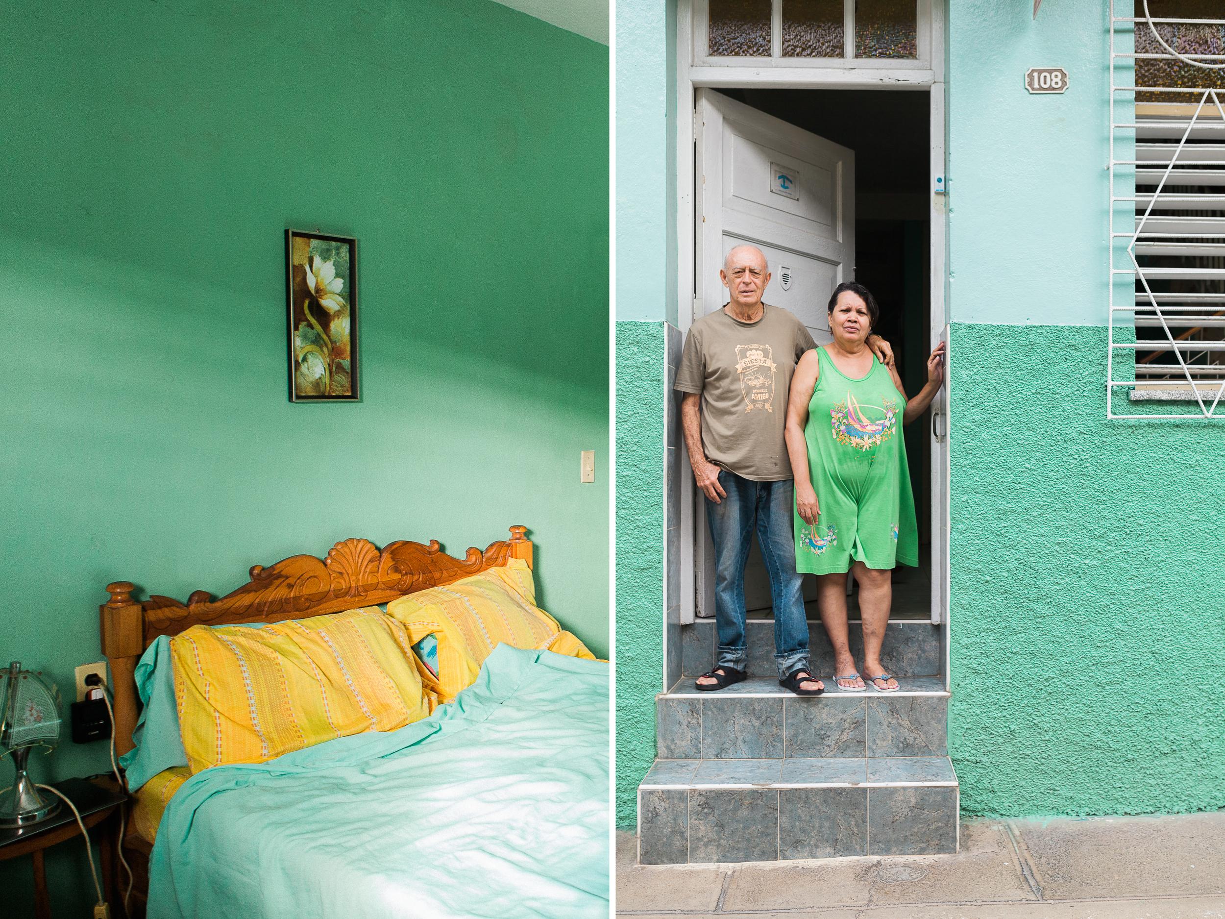 Arturo Luis, his wife, and their cute, clean, green Casa!