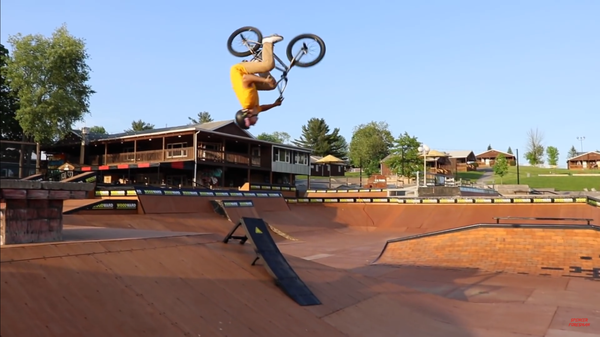 Chase Pauza pulls a back-flip at Woodward..