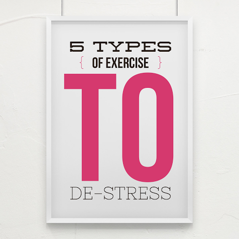 Stress hates exercise. Head over to www.meetwithtisa.com and try these 5 types of exercise to give stress the boot.