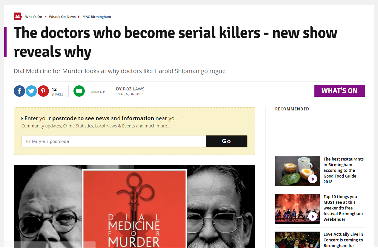 The doctors who become serial killers - new show reveals why - Birmingham Mail