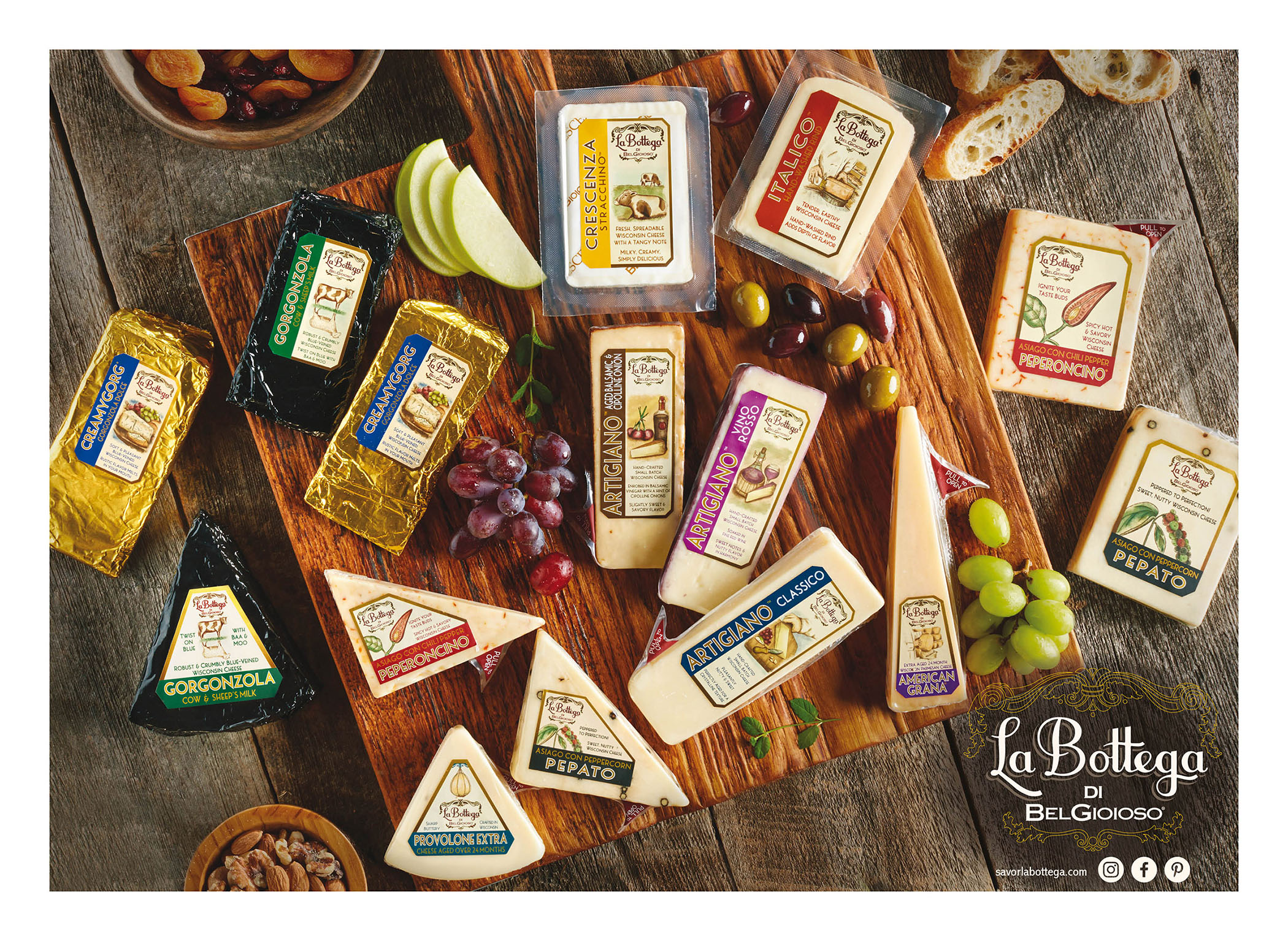 The La Bottega di BelGioioso family of cheeses