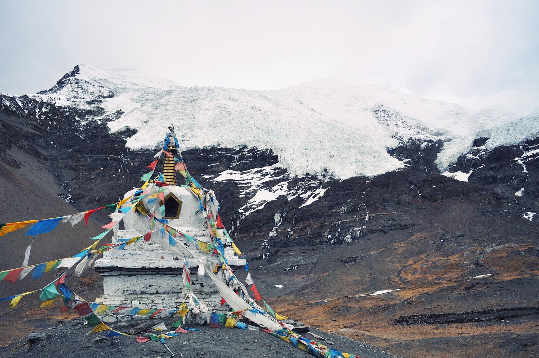 Stupa at Kharola Glacier, Tibet
