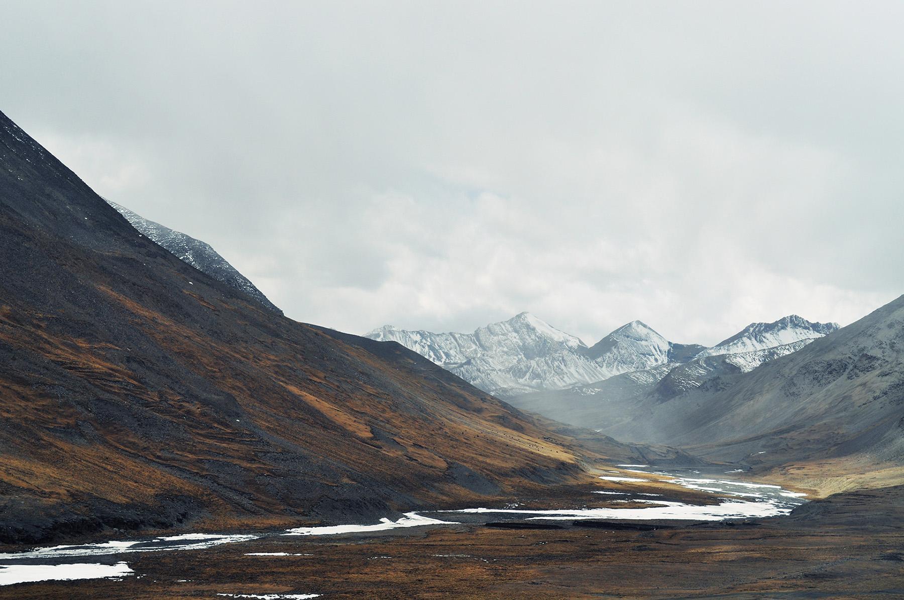 Mountains at Kharola Glacier, Tibet