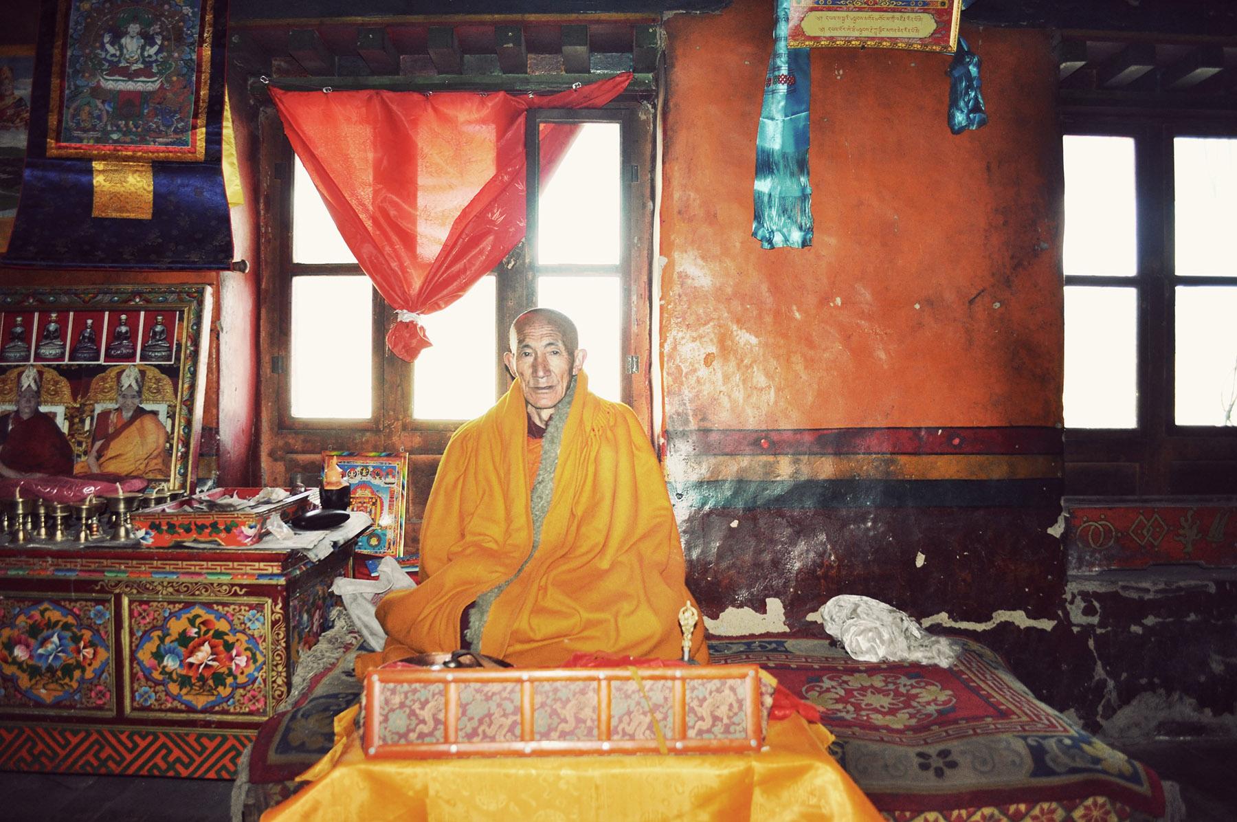 Old monk at Samye, Tibet