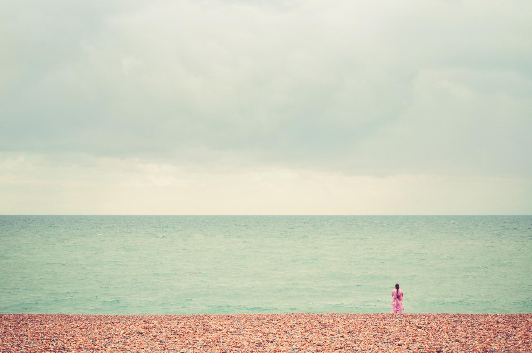 Sari on Brighton Beach, UK