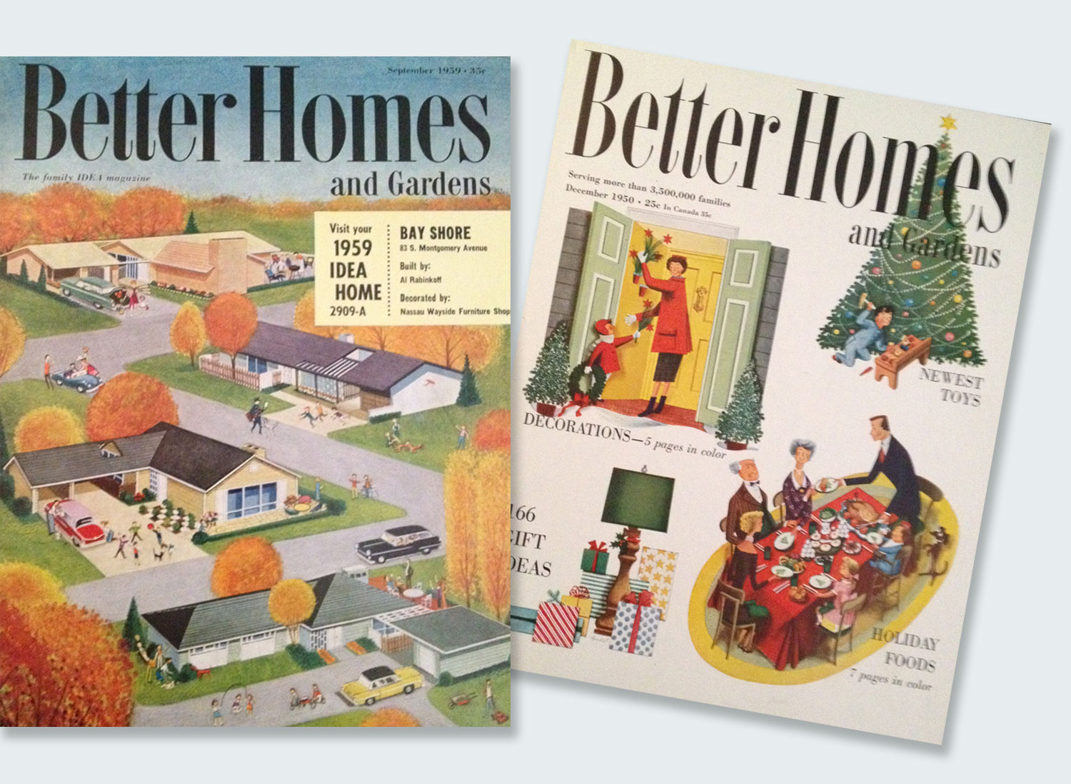 Better Homes and Gardens, 1959 and 1950