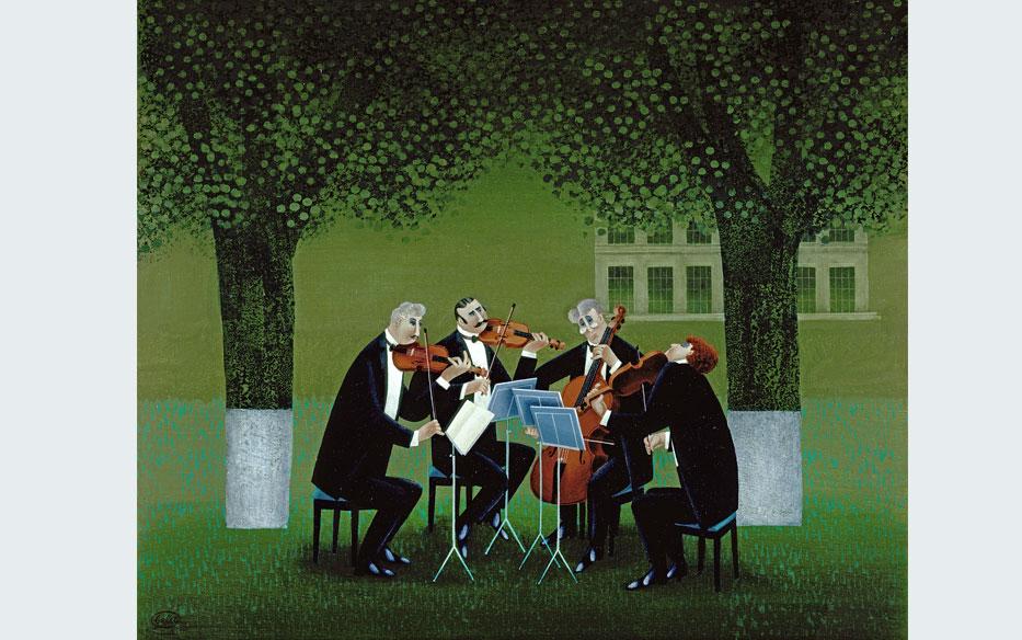 Quintette. Painting.