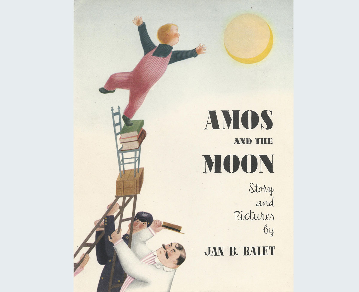Amos and the Moon  (jacket cover). New York, NY: Oxford University Press. 1948. Reprint, Los Angeles, CA: Ammo Books. 2015.