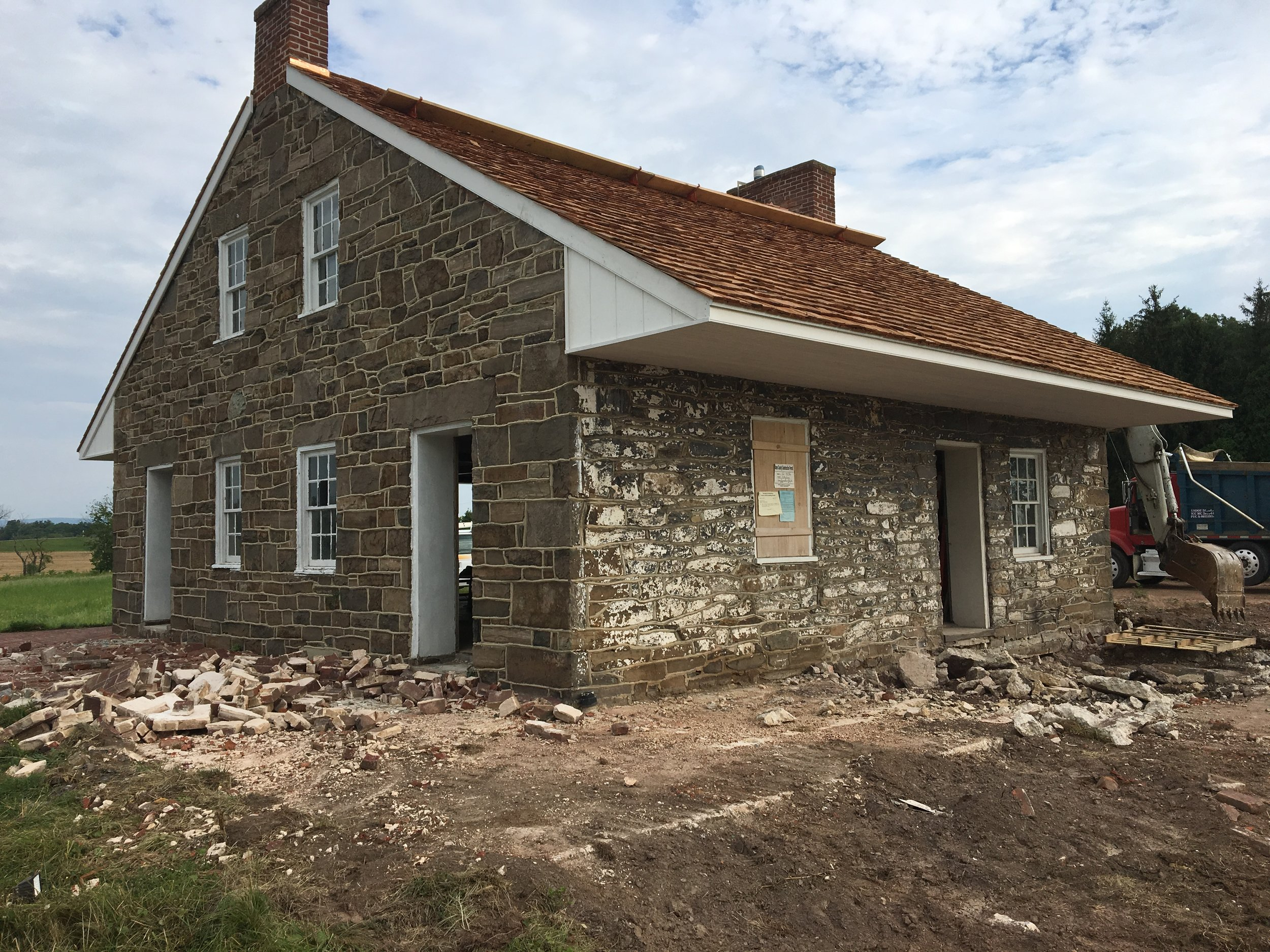 Rear of Mrs Thompson's House/General Lee's Headquarters During Renovations