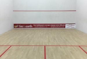 Sponsored squash court at KTSCC.