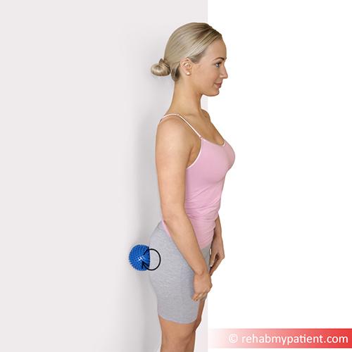 6. Spikey ball gluteal/piriformis massage