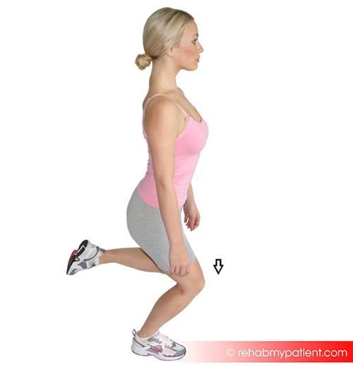 3. Half squat single leg (strengthening)