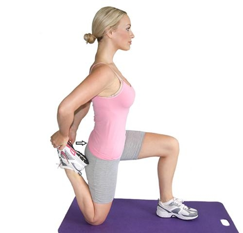 8. Quadriceps Stretch (kneeling)