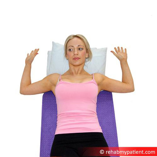 Chest - Lay on your back and stretch your arms out to either side and hold for 30 seconds.