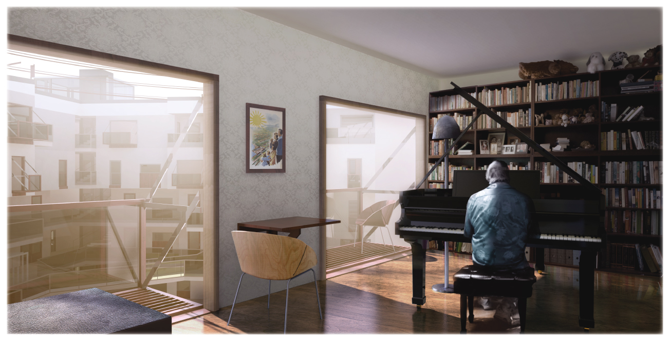 Inside view - a piano for the summer