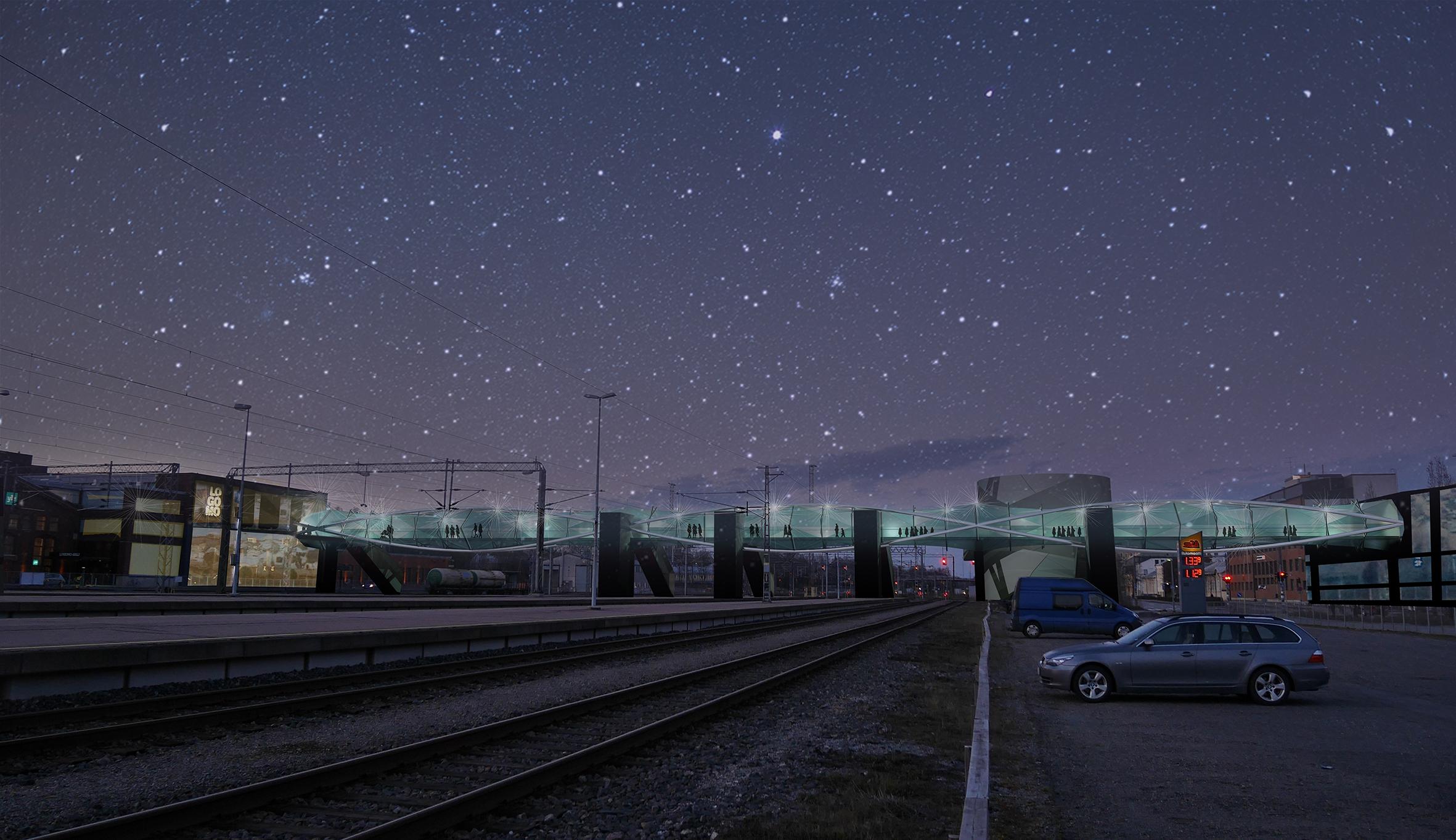 Visualization, night time.