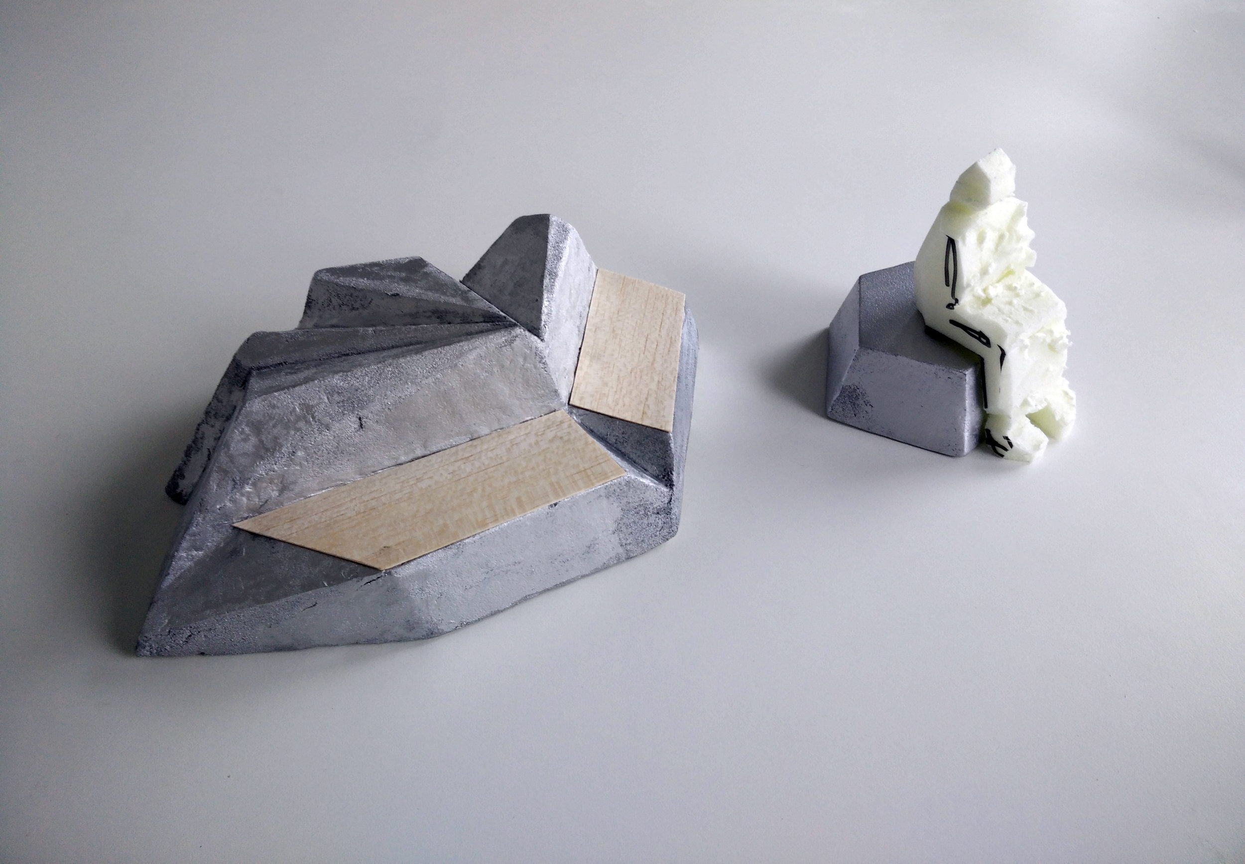An early scale model of the work