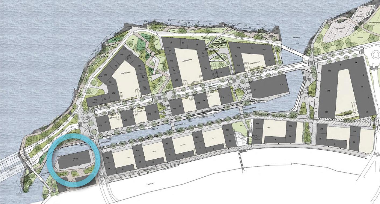 Teos sijoittuu Tampereelle, keskustan pohjoislaidalle parhaillaan rakentuvaan Ranta-Tampellaan. Teoksen sijaintipaikka kartalla sinisellä.