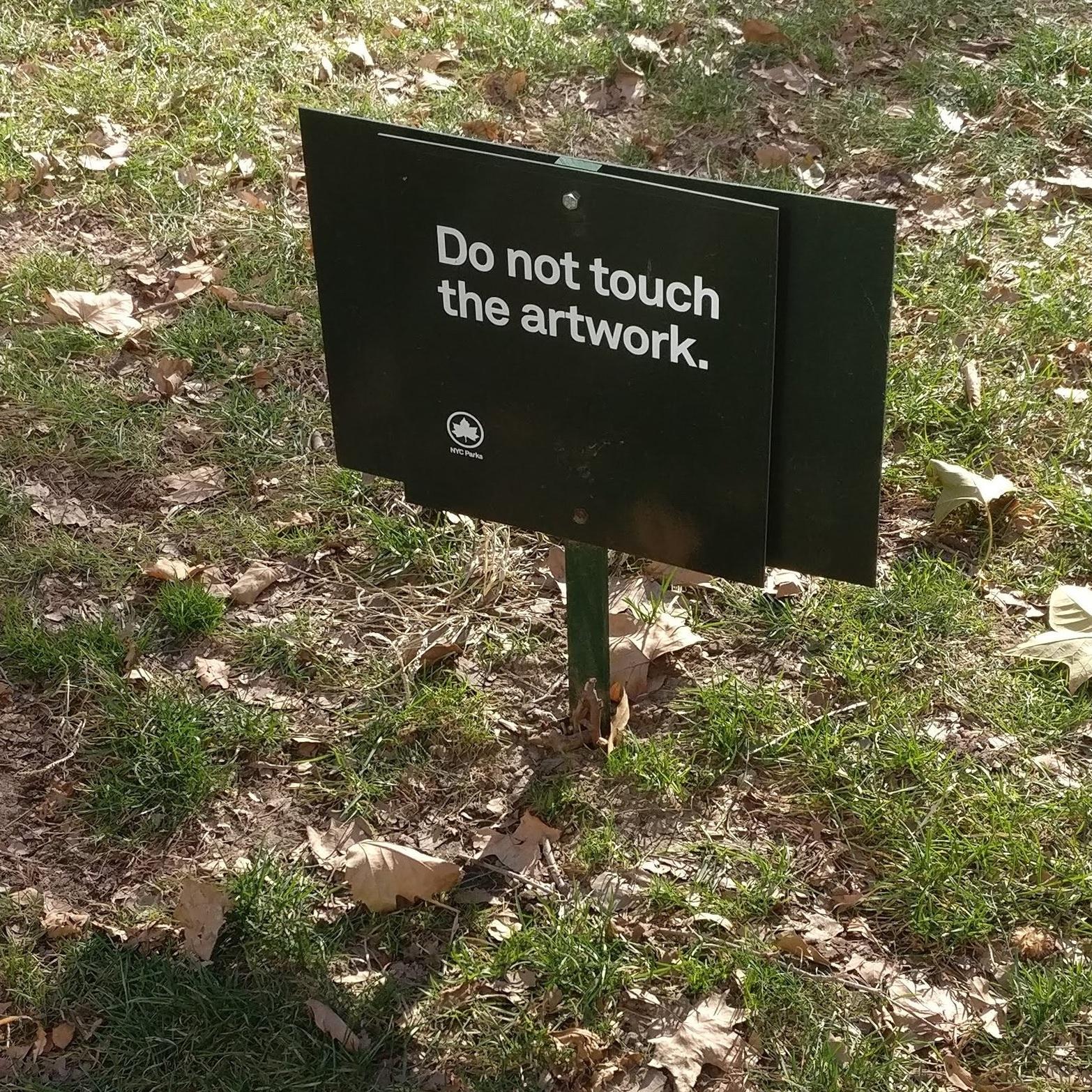 Älä koske teokseen.
