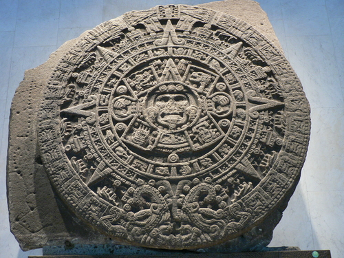 The iconic Aztec Calendar Stone inspires an exhibit of paper where you interact with the art by touching it.