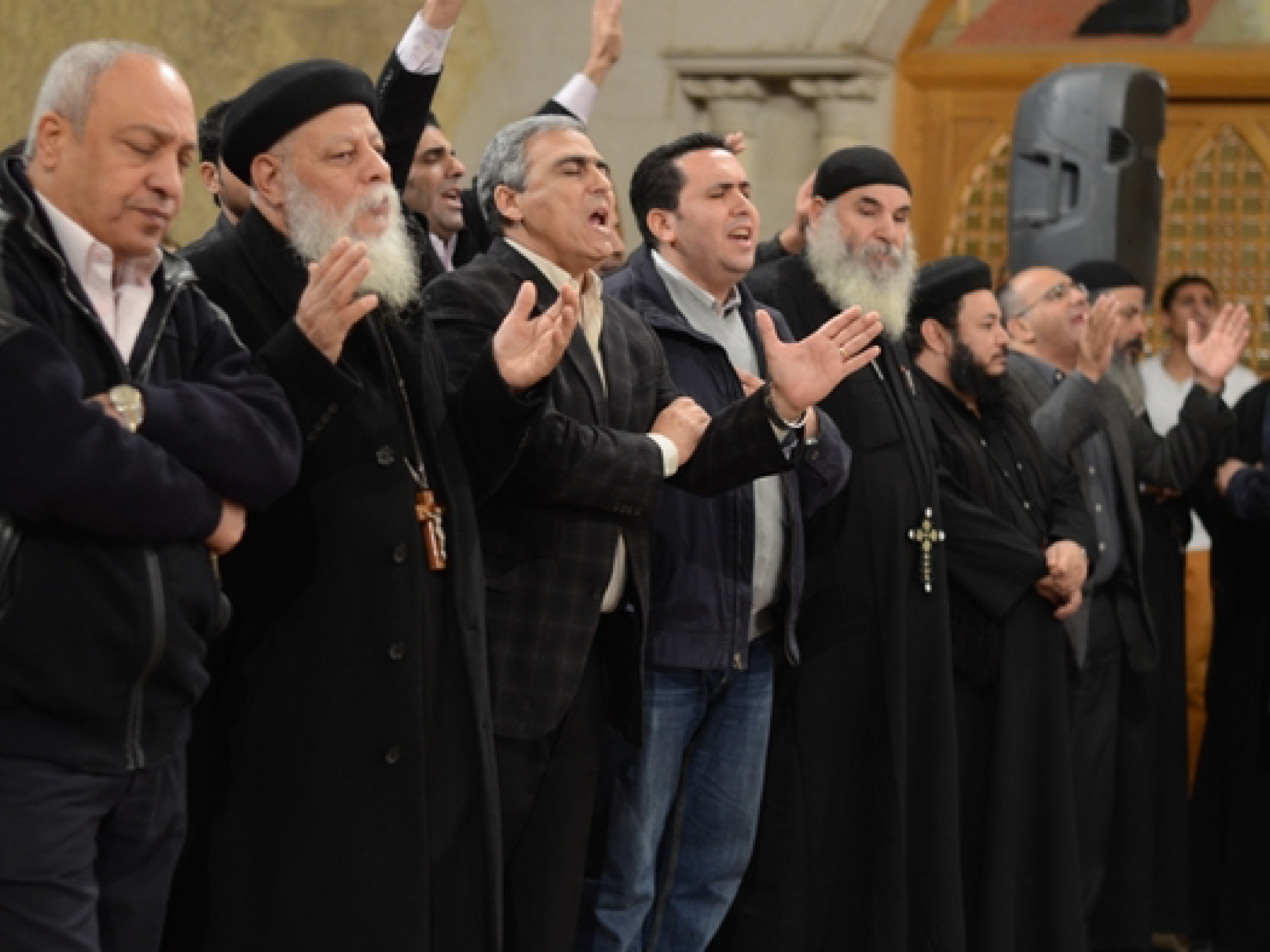 Coptic Christians in Worship